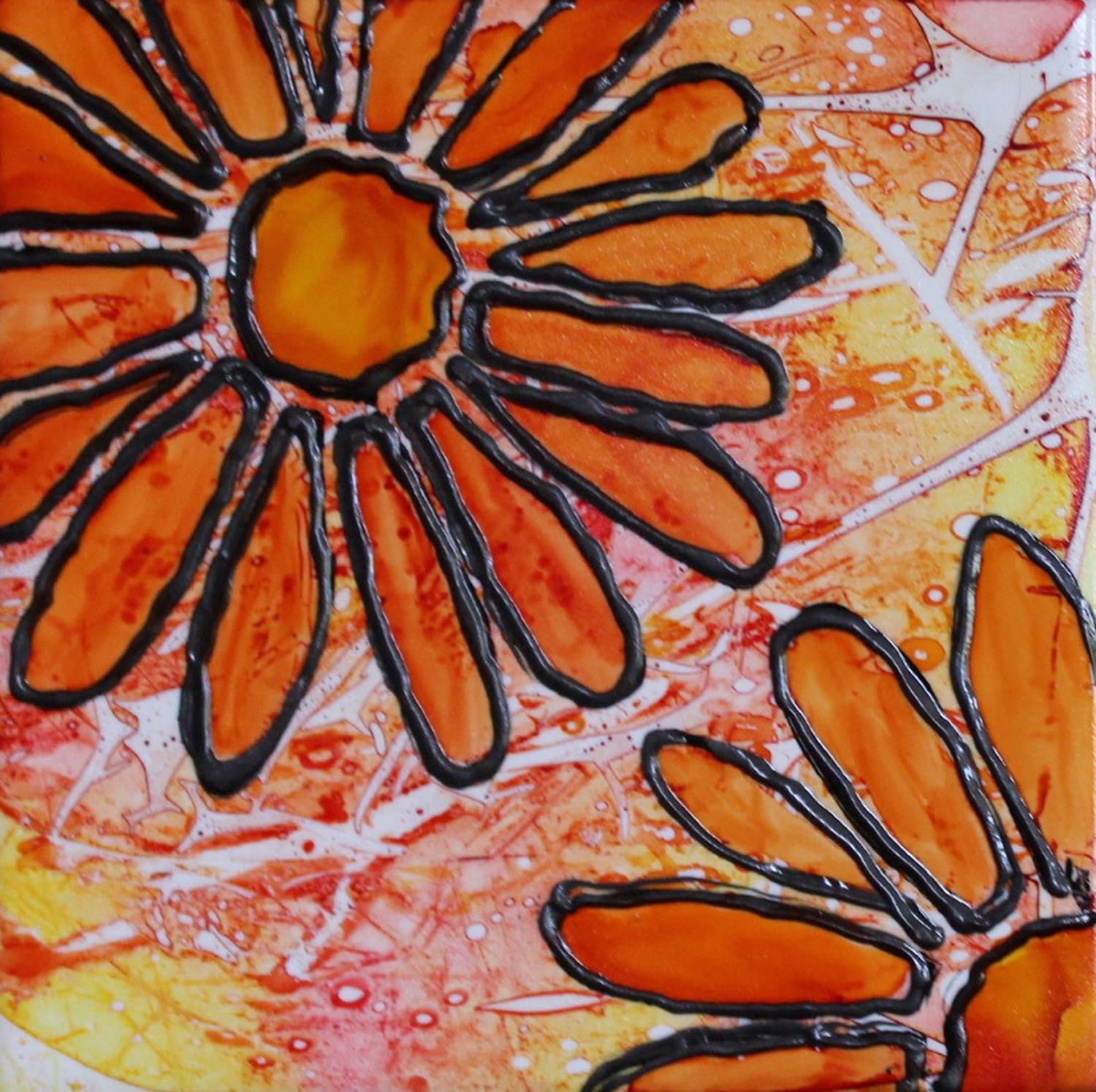 Flowers in Orange - Debbie Huff