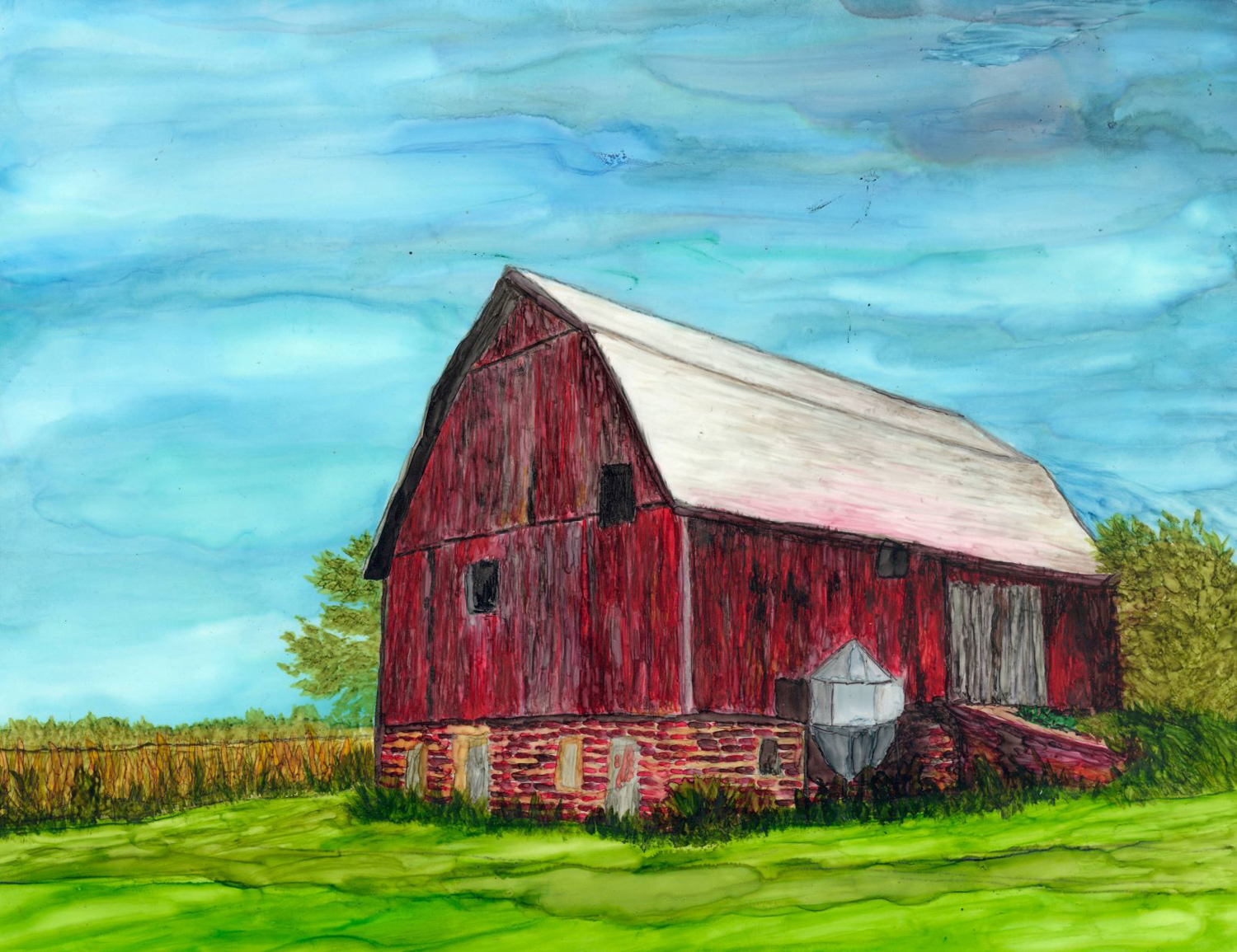 Red Barn - Debbie Huff