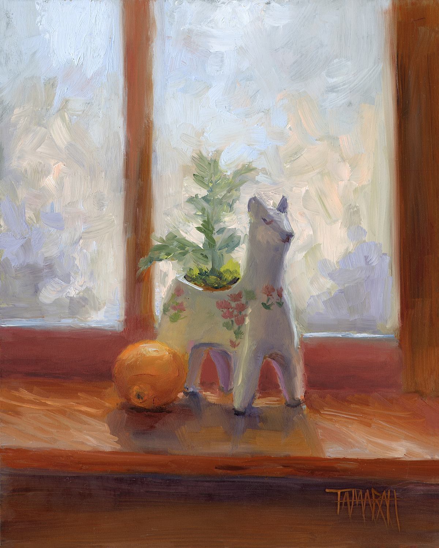Llama In Orange - Tamara Hutchinson
