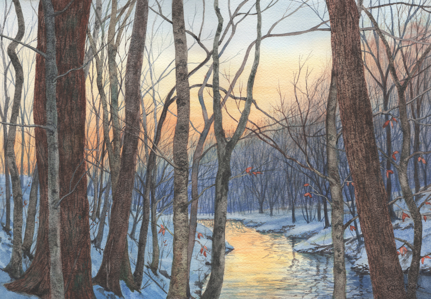 Glowing Creek - Kathy Ruck