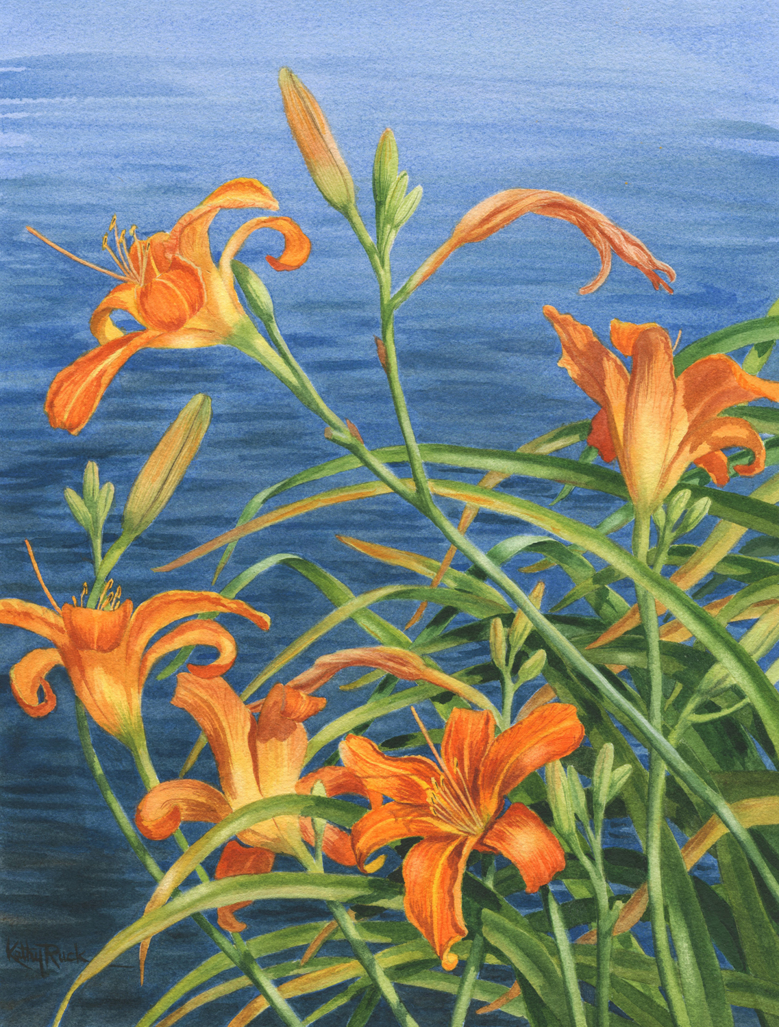 Lilies by the Lake - Kathy Ruck