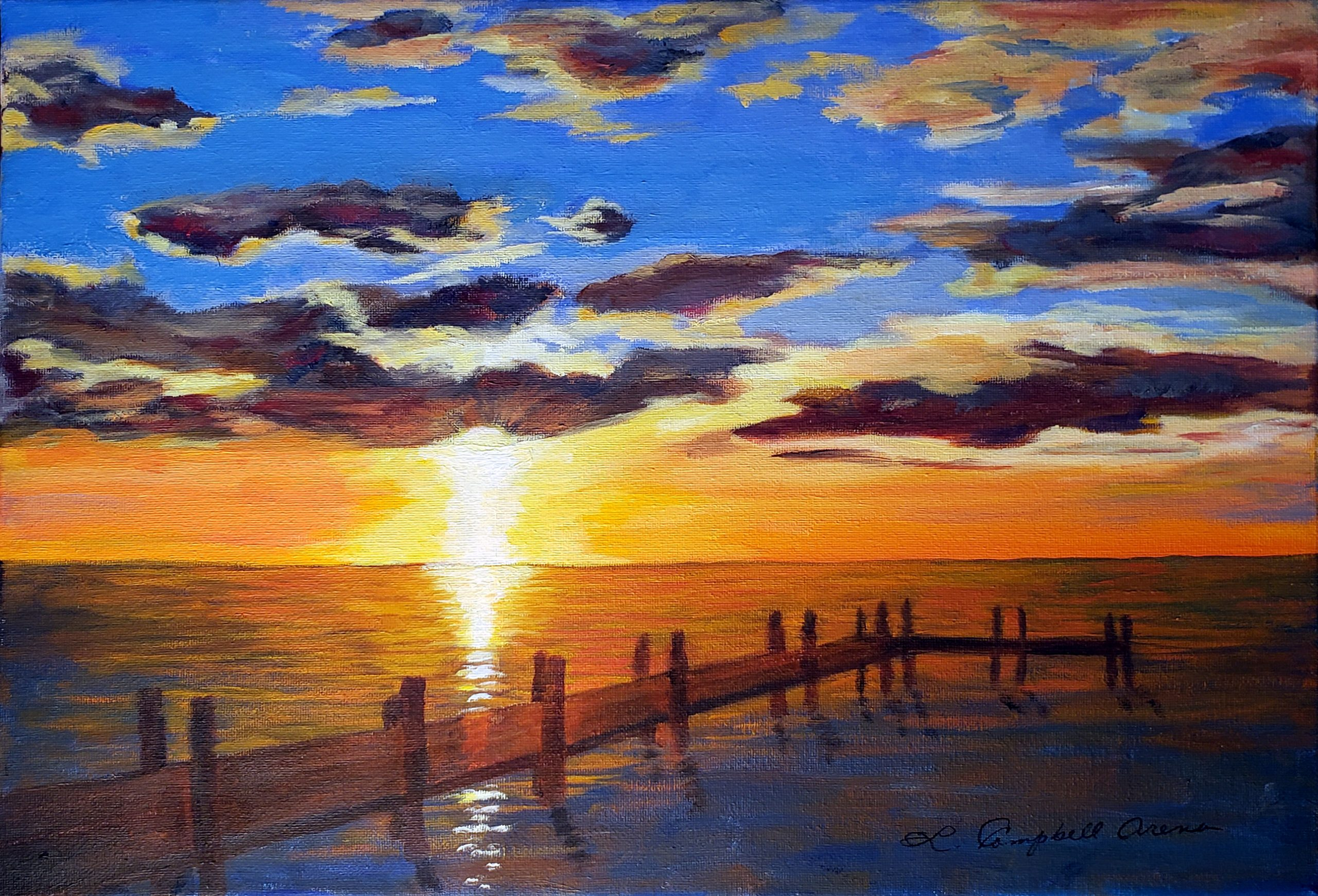Sunset II, Deal Island, MD - Linda Campbell Arena