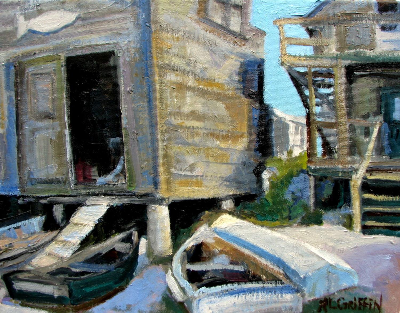 Fish House on Fish Beach, Monhegan Island - Mary Lou Griffin