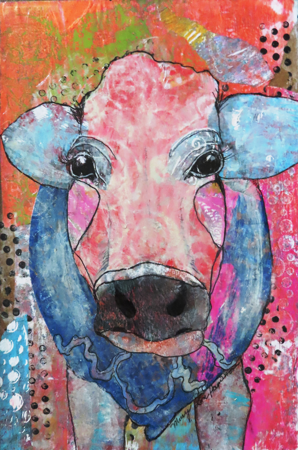 Dreamy Cow - Mary Lou Hamilton