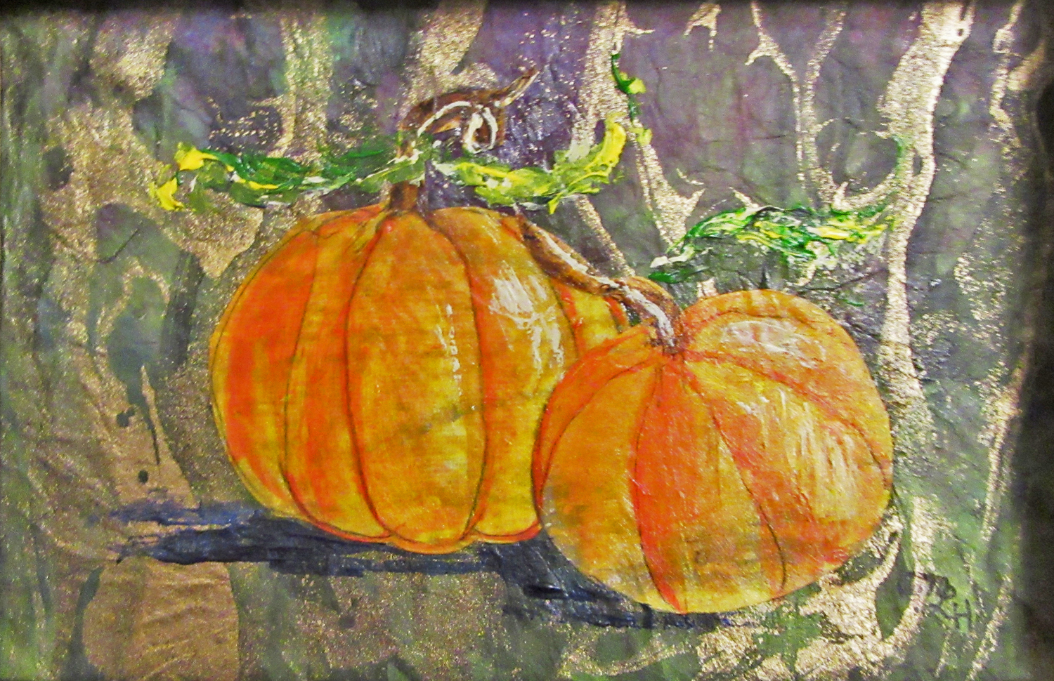Pumpkin Pair - Mary Lou Hamilton