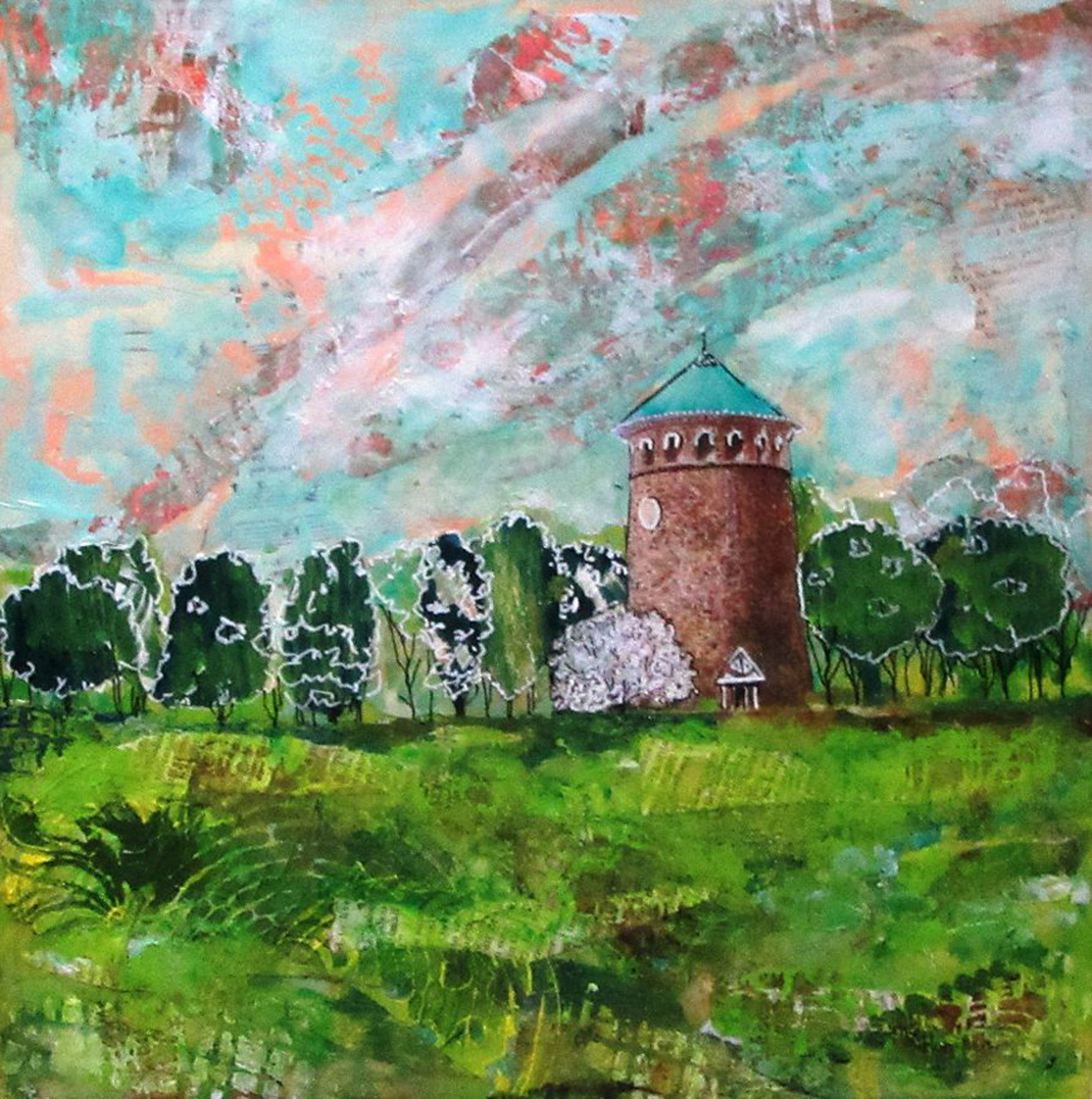 Rockford Tower in Summertime - Mary Lou Hamilton