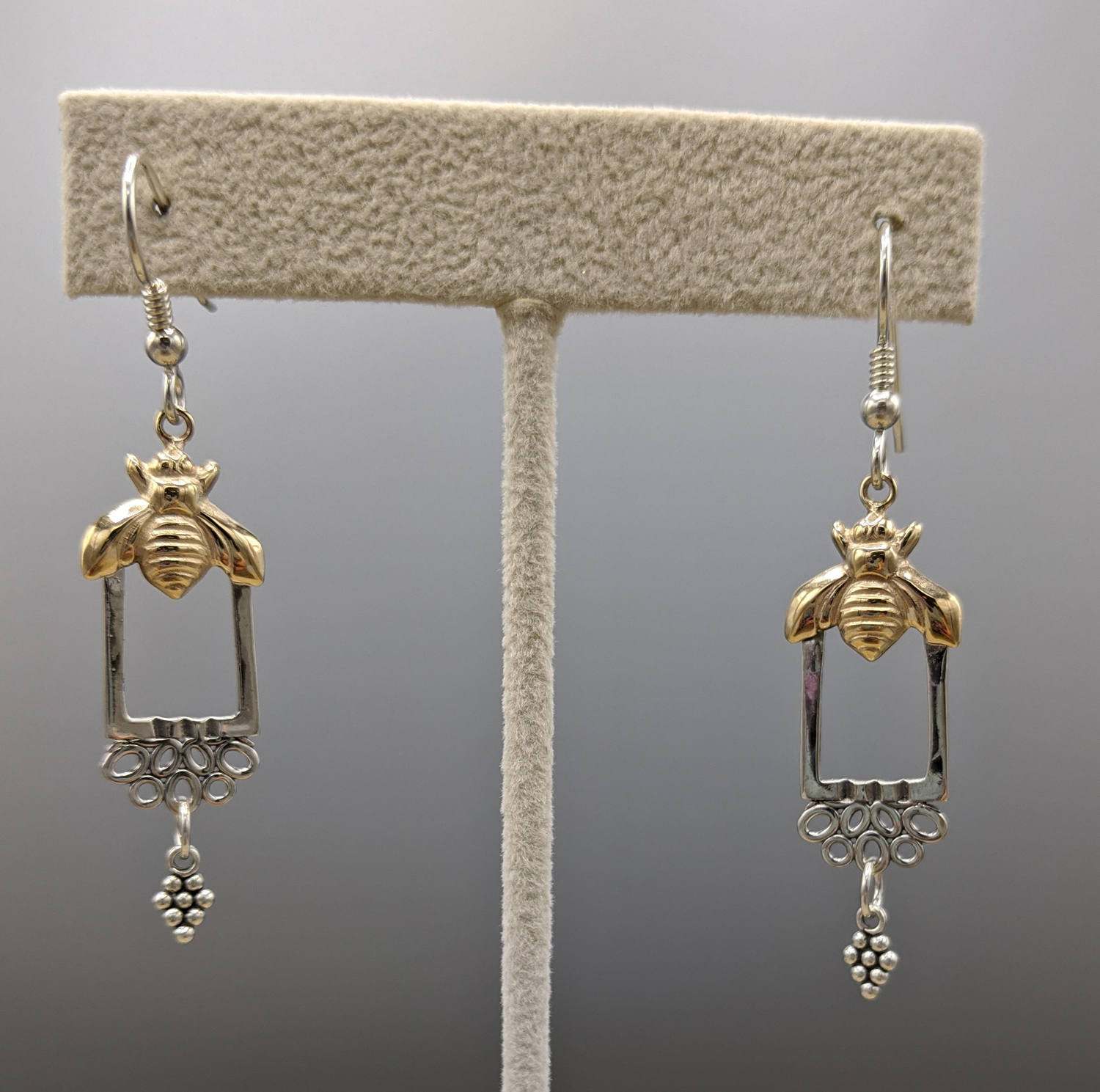 """Honey Bee"" Dangle Earrings - Caryn Hetherston"