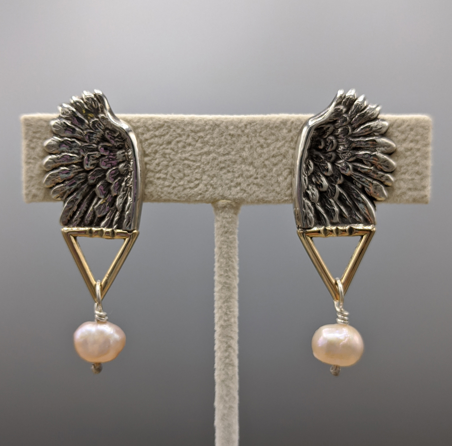 """Wing"" clip earrings - Caryn Hetherston"