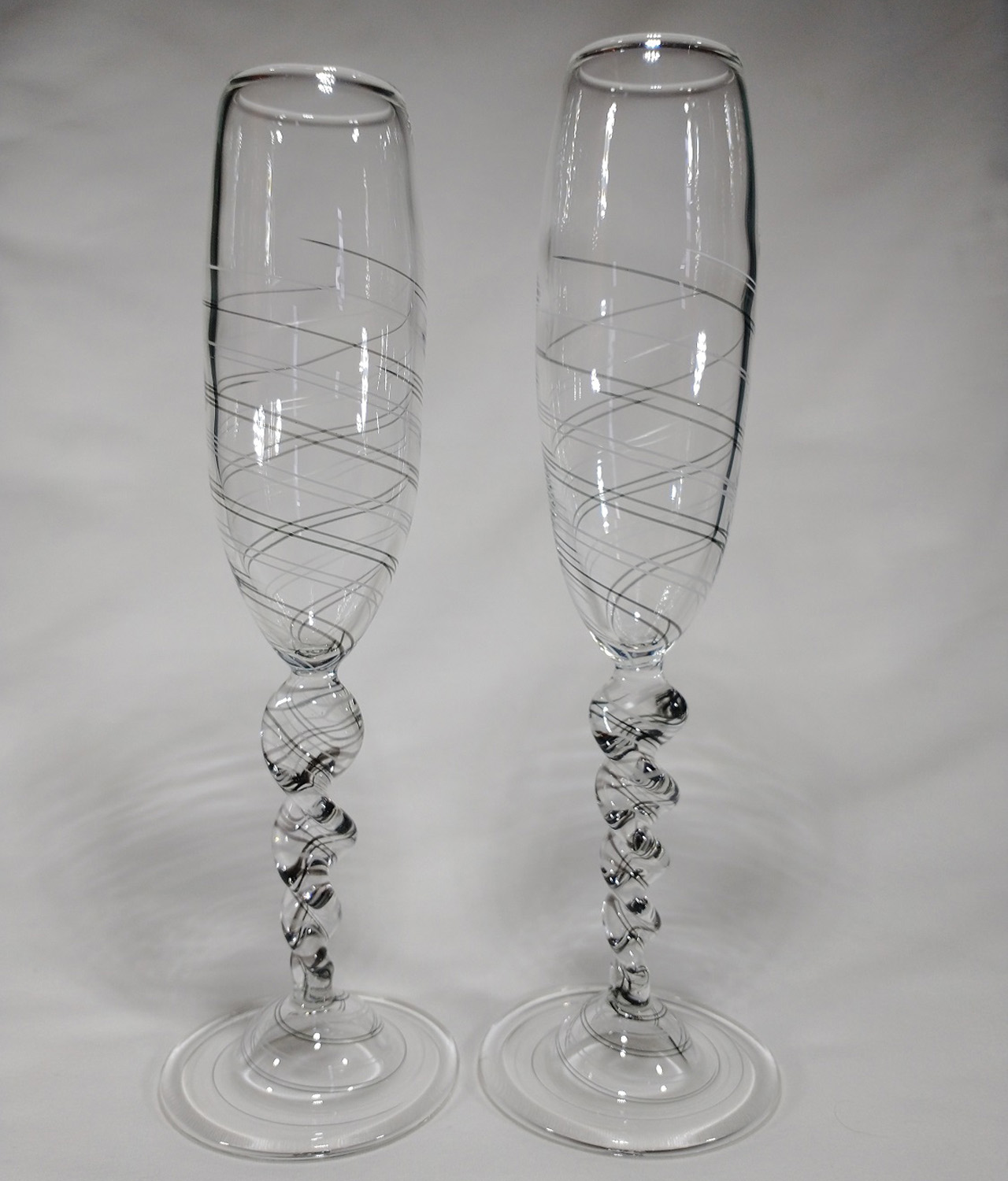 Black & White Champagne Flutes - Greg Losco