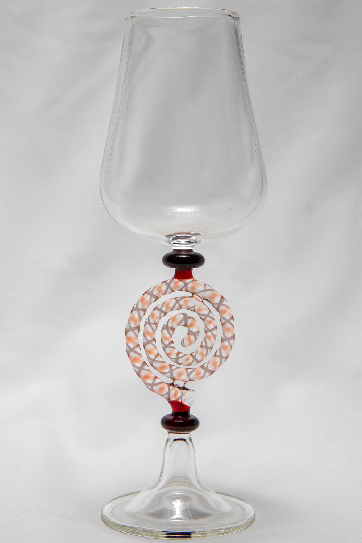 Red Cane Spiral Goblet - Greg Losco