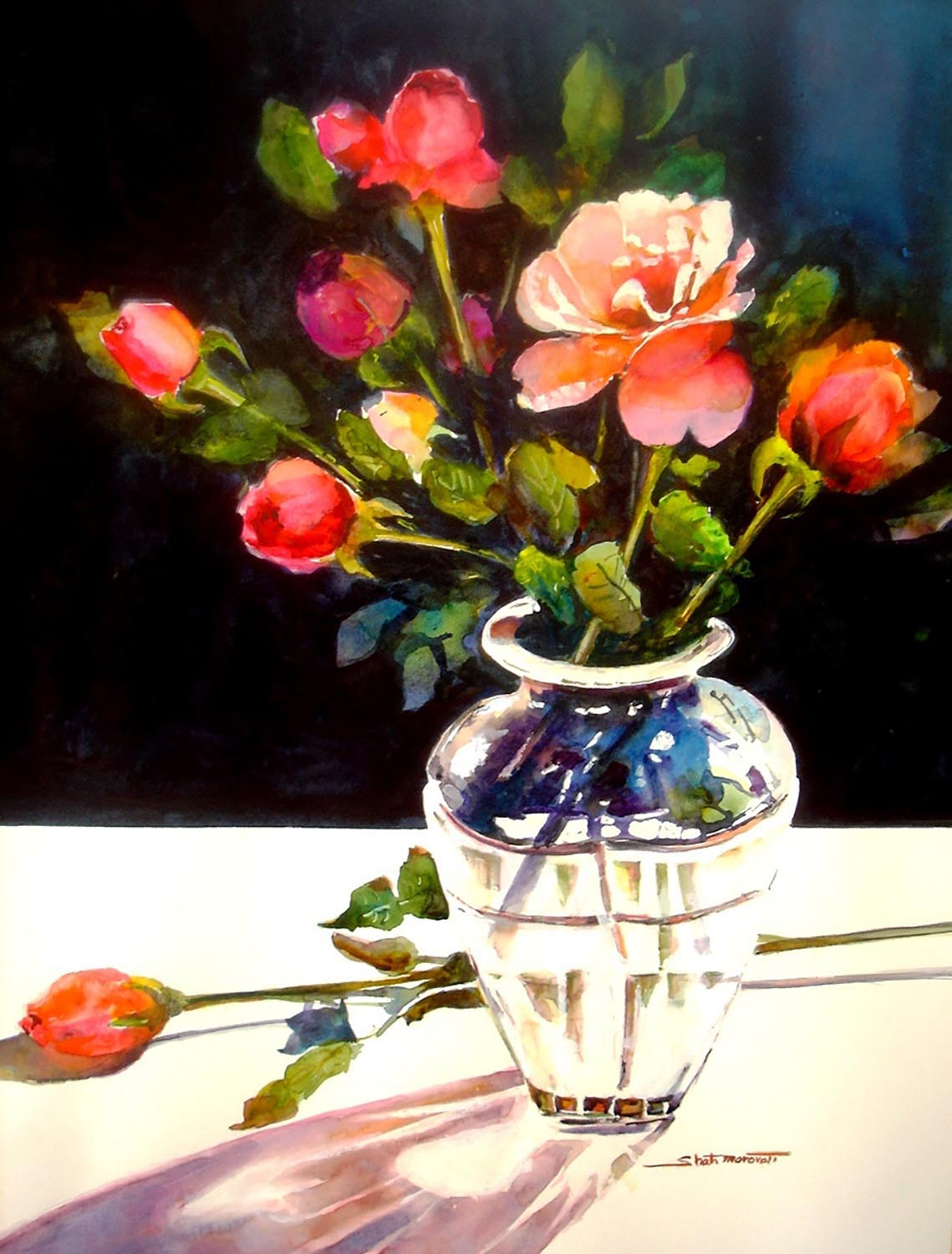 Crystal and Roses - Shah Morovati