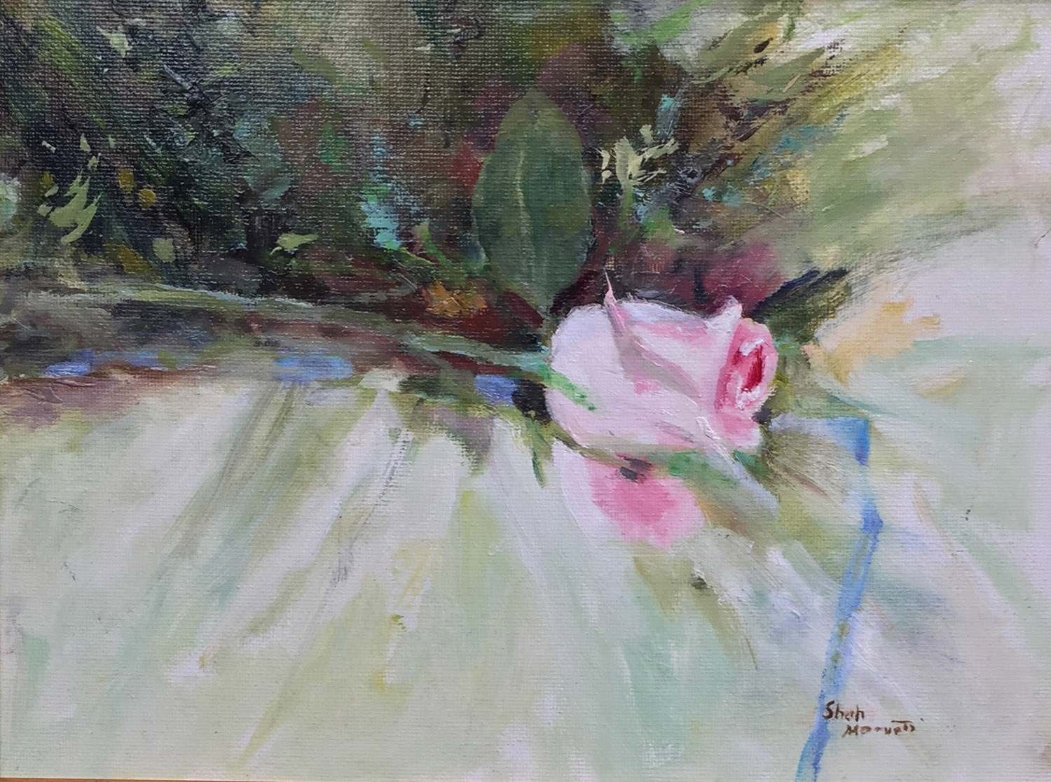Single Pink Rose - Shah Morovati