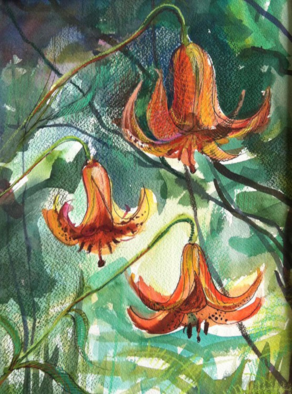 Oriental Lilies - Margarete Noesner