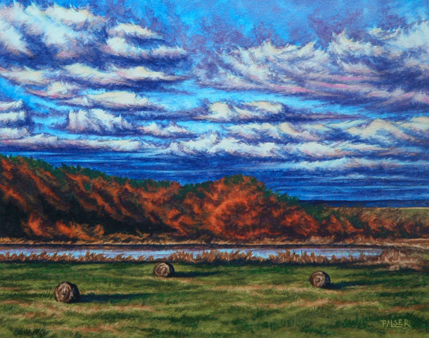 Autumn Hay Bales - Beth Palsner